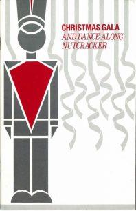 Program cover for 1987 Christmas Gala & Dance-Along Nutcracker