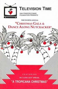 Program cover for 1988 Christmas Gala & Dance-Along Nutcracker: Television Time