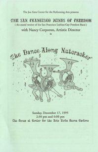 Program cover for the 1995 Dance-Along Nutcracker