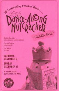 Program cover for the 2006 Dance-Along Nutcracker: CLARA-fied!