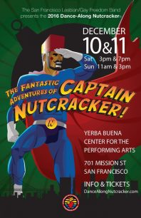 Program cover for 2016 Dance-Along Nutcracker: The Fantastic Adventures of Captain Nutcracker