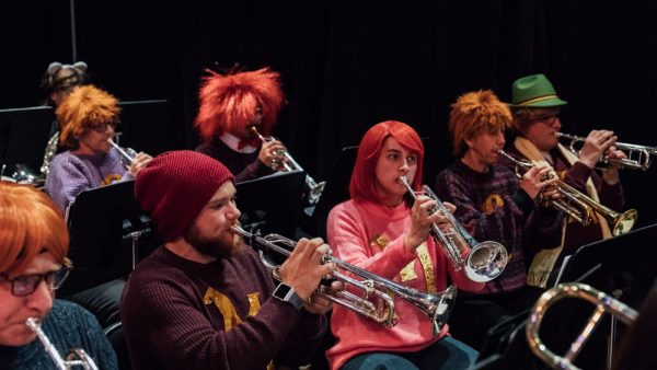 Trumpet section in costume as the Weasley family from 2018's Dance-Along Nutcracker