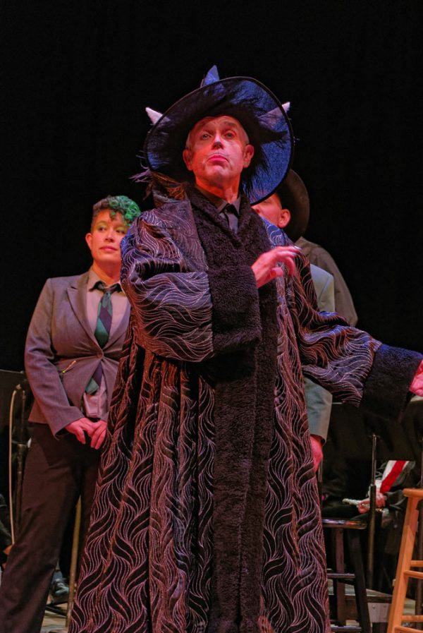 Evil Voldemouse sings about taking funding away from Fogwarts music program in 2018 Dance-Along Nutcracker: Clara Potter and the Elder Baton