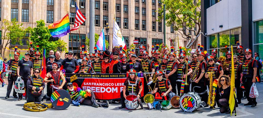 SF Lesbian/Gay Freedom Marching Band at SF Pride Parade 2019
