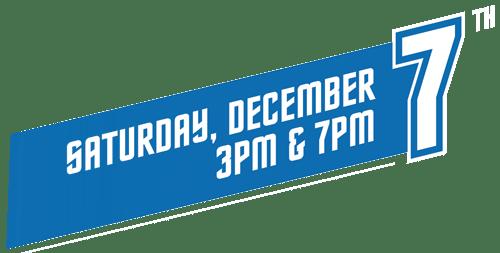 Dance-Along Nutcracker Showtimes for 2019 Saturday Dec 7: 3 PM and 7 PM
