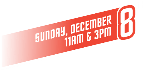 Dance-Along Nutcracker Showtimes for 2019 Sunday Dec 8th, 11am and 3pm