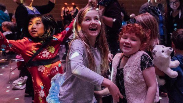 Happy children dancing at the 2018 Dance-Along Nutcracker
