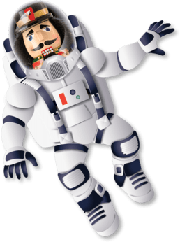 Nutcracker in a space suit for 2019's Dance-Along Nutcracker: Nutcrackers in Space