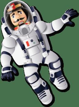 Nutcracker in a space suit for 2019's Dance-Along Nutcracker: Nutcrackers in Space