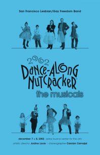 Program cover for the 2002 Dance-Along Nutcracker: The Musicals!
