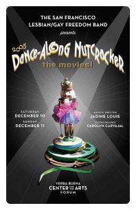 Program cover for the 2005 Dance-Along Nutcracker: The Movies!
